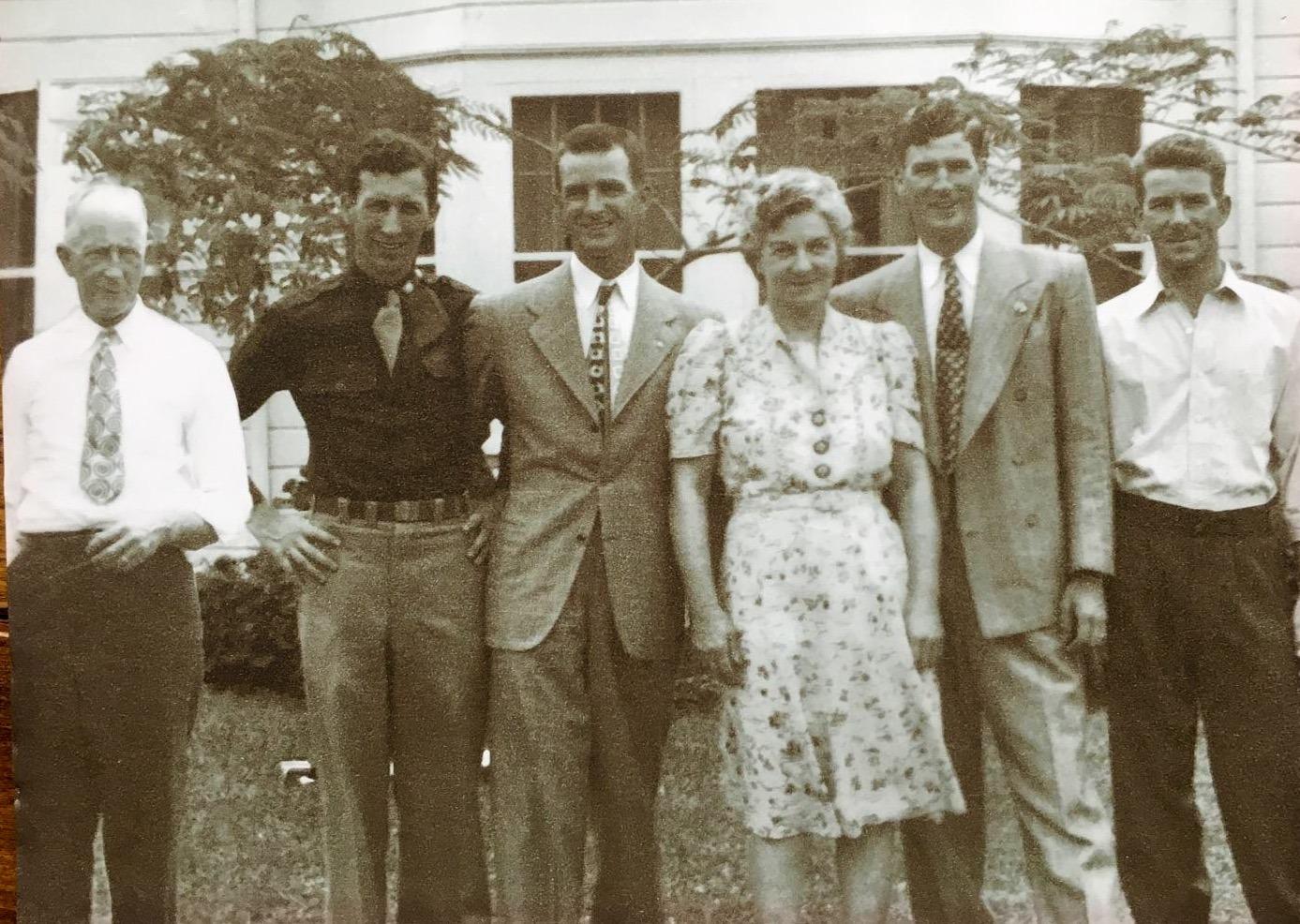 Jack Sr., Jack Jr.(my father), Hewett, Jennie, Robert and Donald.